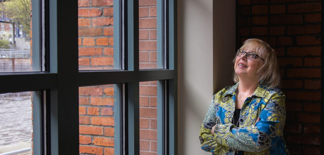 Linda Dawson at UW Tacoma, 2017. Photo courtesy: UW Tacoma